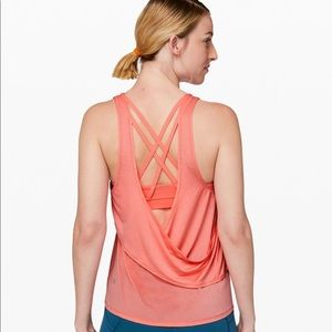 Lululemon Reenergized 2 in 1 Tank (coral)